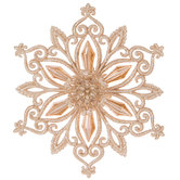 Champagne Single Point Snowflake Ornament