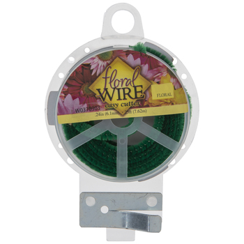Green Easy Cut Chenille Floral Wire