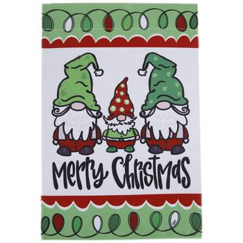 Merry Christmas Gnomes Garden Flag