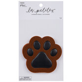 Brown Paw Print 3D Sticker
