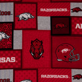 Arkansas Block Collegiate Fleece Fabric
