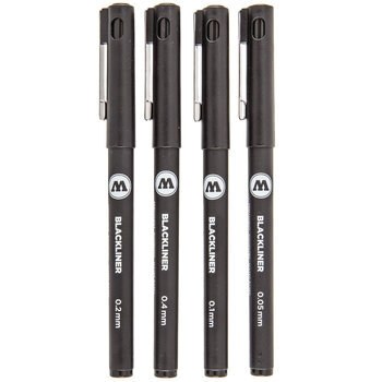 Blackliner Permanent Pens - 4 Piece Set