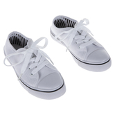 White Canvas Youth Sneakers