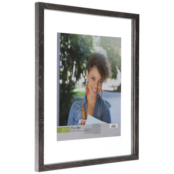 Gray Wood Float Wall Frame