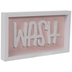 Pink & White Wash Wood Decor