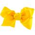 Bright Yellow Grosgrain Bow Hair Clip