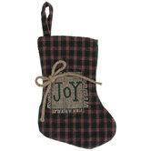 Mini Joy Plaid Stocking