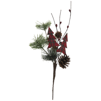 Pine, Pinecones, and Christmas Tree Pick