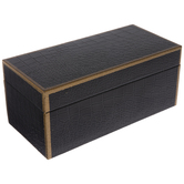 Black & Gold Snake Skin Wood Box