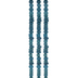 Blue Round Dyed Bone Bead Strands