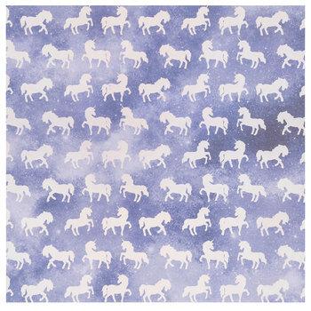 """Holographic Foil Unicorns Scrapbook Paper - 12"""" x 12"""""""