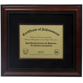 """Mahogany Document Frame With Suede Mat - 10 1/2"""" x 8"""""""