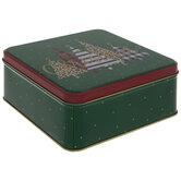 Merry Christmas Trees Tin Box