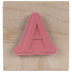 Serif Letter Rubber Stamp - A