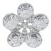 Silver Flower Rhinestone Scatter