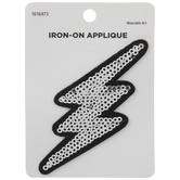 Lightning Sequin Iron-On Applique