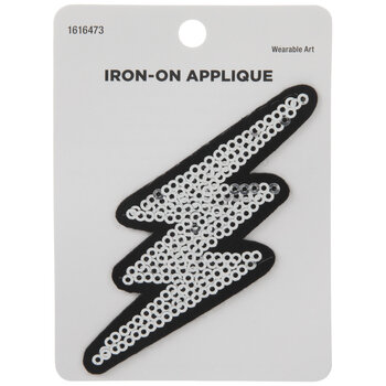 Lightning Sequin Iron-On Applique