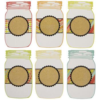 Patterned Mason Jar Paper Shapes
