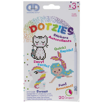 Sweet Diamond Dotzies Sticker Kit