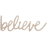 Believe Handwritten Chipboard Shape - Large