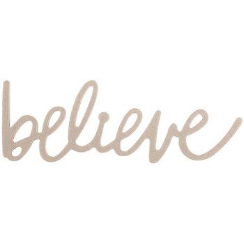 Believe Handwritten Chipboard Shape - Large