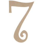 Curly-Q Wood Number 7 - 8""
