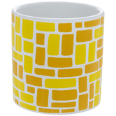 Yellow Mosaic Container