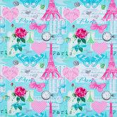 Eiffel Tower Patch Apparel Fabric