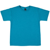 Heather Galapagos Blue Tri-Blend Youth T-Shirt - XL