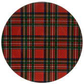 Red & Green Plaid Plate Charger