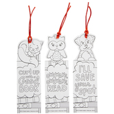 Puppy, Owl & Cat Paper Bookmarks
