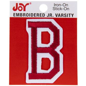 "Red Junior Varsity Letter Iron-On Applique B - 2"""