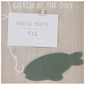"""Catch Of The Day Clip Wood Frame - 4"""" x 6"""""""