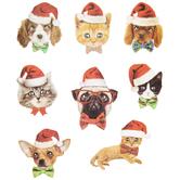 Santa Pet Stickers