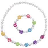 Pastel Beaded Bracelet & Necklace