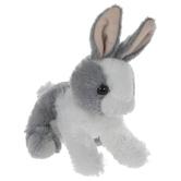 Gray & White Baby Bunny Plush
