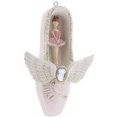 Ballerina Inside Ballet Shoe Ornament