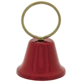 Red Metal Bell Card Holder