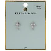 Rhinestone Cross Earrings