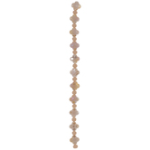 Beige Faceted Flower Bead Strand