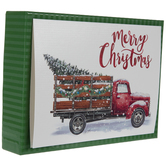 Glitter Truck With Tree Christmas Cards