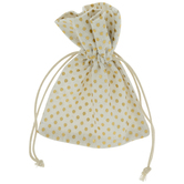 White & Gold Polka Dot Favor Bags