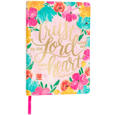 Proverbs 3:5 Marble Floral Journal