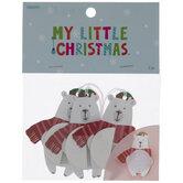 Mini Honeycomb Polar Bear Ornaments