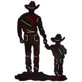 Rainbow Cowboy & Child Metal Wall Decor