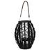 Black Basket With Jar Candle Holder - Large