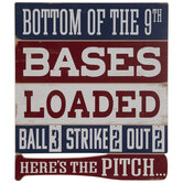Here's The Pitch Baseball Wood Decor