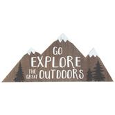 Explore Outdoors Mountain Wood Wall Decor