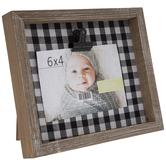 "Buffalo Check Wood Clip Frame - 6"" x 4"""