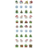 Mini Christmas Puffy Stickers